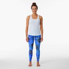 Designer Leggings, Beste Leggings, Circle Pattern, Seamless Leggings, Tie Dyed, Shades Of Blue, Color Patterns, Pattern Designs, Knitted Fabric