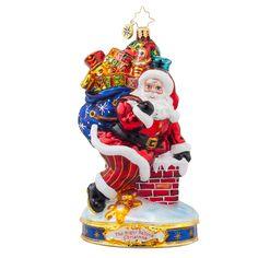 Christopher Radko Ornaments 2015 | Radko Down the Chimney Ornament