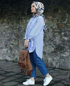 Hijab Casual, Hijab Chic, Women's Casual, Hijab Fashion Summer, Street Hijab Fashion, Muslim Fashion, Fashion Outfits, Womens Fashion, Fashion Fashion