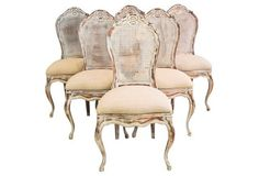 Chairs dining 18x20x39+20H seat sold 6@$1645 ... Distressed Dining Chairs, Set of 6