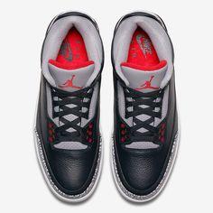 reputable site c94f5 36b6a Jordan 3 Black Cement Official Images - 2018 Release Info