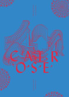 Rollercoaster, poster submitted and designed by Darius Ou Dahao  –  Type Only  Unit Editions
