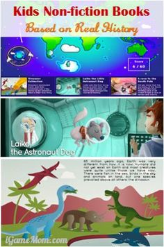 Kids non-fiction books based on historical facts #kidsapps #BookApps