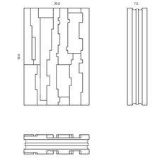 Gypsum room divider FRAMMENTO - mg12