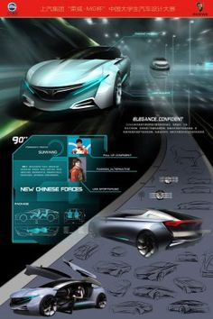3rd winner Liang Feng Ji Lin University Roewe D Cross Concept Design Board