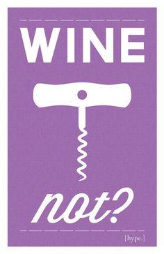 No, no, let's wine!