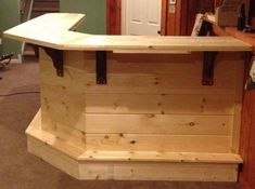 Wood bar plans woodworking talk woodworkers forum bar home home bars home bar plans rustic diy . Diy Home Bar, Diy Bar, Bars For Home, Basement Bar Designs, Home Bar Designs, Basement Bars, Basement Ideas, Basement Bar Plans, Dark Basement
