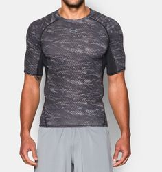 Playera de Compresión Manga Corta Estampada UA HeatGear® Armour para Hombre  Compression T Shirt, fe0b544edaad