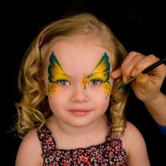 Precious little butterfly! Looks so quick! face painting ideas for kids