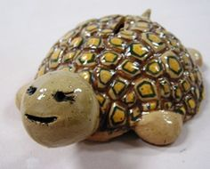 Turtle bank pottery project: one of several kids' project options at birthday parties at Capitol Clay Arts in Charleston, WV.