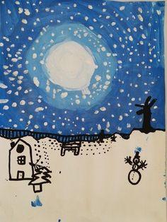 *Art visuel: paysage d'hiver en dégradé