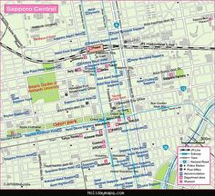 awesome Sapporo Subway Map Holidaymapq Pinterest Subway map