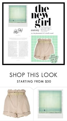"""GreenWithEnvy!"" by rjizzle ❤ liked on Polyvore featuring Moschino and Polaroid"