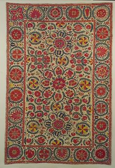 Bukhara silk suzani, early century Cover Date: early century Geography: present-day Uzbekistan, Bukhara Culture: Islamic Medium: Silk, linen Textiles, Textile Patterns, Textile Prints, Textile Art, Cheap Carpet Runners, Magic Carpet, Tribal Rug, Persian Carpet, Metropolitan Museum
