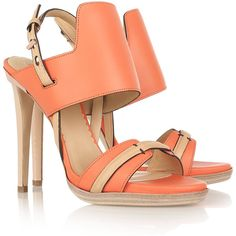 Reed Krakoff Two-tone leather sandals via Polyvore