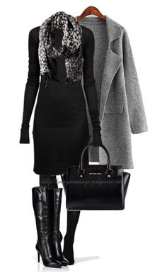 """Black & Grey"" by uniqueimage ❤ liked on Polyvore featuring Chicnova Fashion, SPANX, Rick Owens, Sergio Rossi, MICHAEL Michael Kors and Rafé New York"