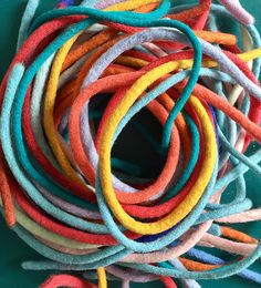 Odile Gova Felt rope made from recycled woolly sweaters.
