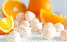 Τρουφάκια με πορτοκάλι και αμύγδαλο