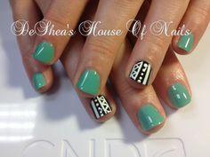 Aztec nails #nailart #beauty #nails