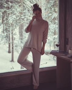 You had me at merlot Wine and cashmere pjs sort of evening {Link to mine in my bio}