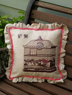 Transfer and image to your homemade cushion! Thank you! I will be doing this!!
