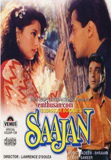 Saajan (1991) Hindi Movie HD 400MB Free | Hindi movies, Hindi ...