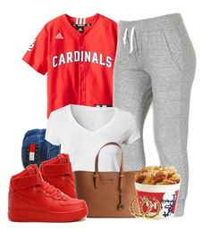 """""""Untitled #424"""" by b-elkstone ❤ liked on Polyvore featuring NIKE, Calvin Klein and MICHAEL Michael Kors"""