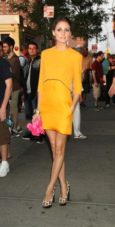Of course Olivia makes neon orange look easy to wear!