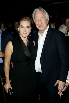 """Kate Winslet and Alan Rickman at the premiere of """"A Little Chaos"""" in New York, June 2015."""
