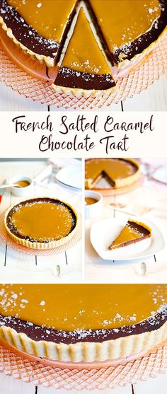French Slated Caramel Chocolate Tart Recipe | The Hungry Traveler