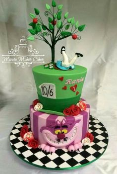 Cakes - Alice in Wonderland on Pinterest | 175 Pins
