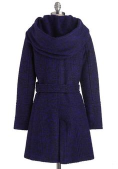Pastry Date Coat in Blueberry, #ModCloth