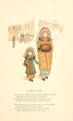 Little Ann, a book by Kate Greenaway 1880 - Plate 1