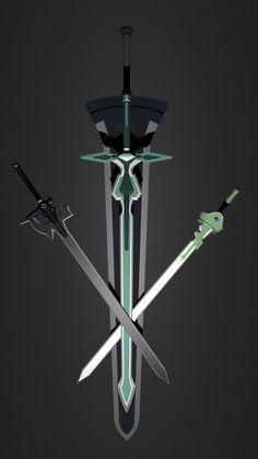 As espadas de Kirito. #digitalart