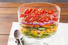 Salade de quinoa étagée