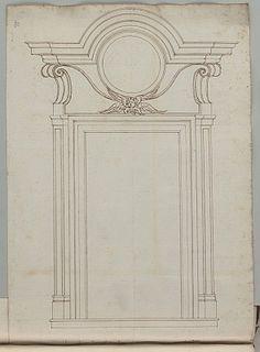 Deutsche Fotothek - for garden 4 Neoclassical Architecture, Classic Architecture, Architecture Details, Art Nouveau, Custom Interior Doors, Gothic Pattern, Exterior Trim, Faux Stained Glass, Technical Drawing