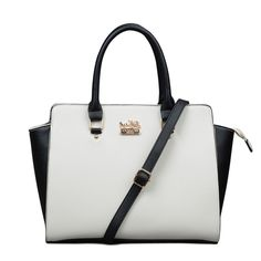 This Hot Summer,You Can'T Miss The Fashion Coach Riley Carryall In Saffiano Medium White Satchels ELQ!