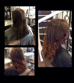 Before and after By Lucie at Reed Hair