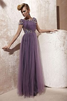 Brilliant A-line Off-the-Shoulder Floor-Length Sweep Ruched & Appliques Prom Dress Prom Dresses 2014- ericdress.com 8890453