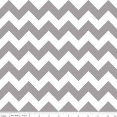Riley Blake Medium Chevron Grey Flannel Fabric 1 yard by Ahmelie, $9.00