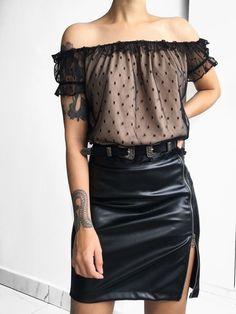 Leather Skirt, Skirts, Tops, Women, Style, Fashion, Blouse, Swag, Moda