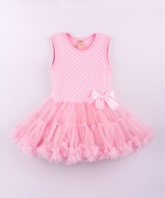 Look at this Pink & White Polka Dot Tutu Dress - Toddler on #zulily today!