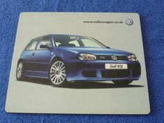 VW Volkswagen Golf Mk4 R32 Pre Launch Dealer Only Mouse Mat New and Very Rare