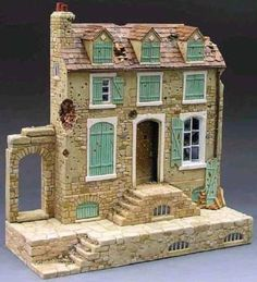 King & Country Diorama Sp047 Bomb Damaged French House Mib