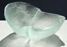 Glass bowl - Glass fiber sealed in glass