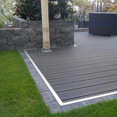 The expert for a WPC patio and balcony flooring - Terrasse - garten dekore Backyard Patio Designs, Yard Design, Pergola Patio, Modern Landscaping, Backyard Landscaping, Design Cour, Balcony Flooring, Terrace Garden, Back Gardens