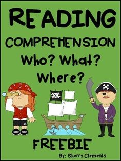 Reading Comprehension: Who? - Cute short story with related fill in the blank sentences. Great for checking for reading comprehension and also great for introducing Close Reading! Thanks for leaving me feedback! Guided Reading Groups, Reading Resources, Reading Activities, Comprehension Strategies, Reading Strategies, Reading Comprehension, Kindergarten Reading, Teaching Reading, Student Teaching