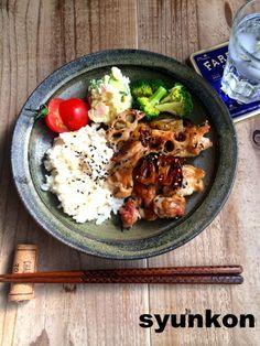 【簡単!!カフェごはん】鶏とれんこんの塩しょうゆ炒めでワンプレートと、スタイルアサヒ  山本ゆりオフィシャルブログ「含み笑いのカフェごはん『syunkon』」Powered by Ameba