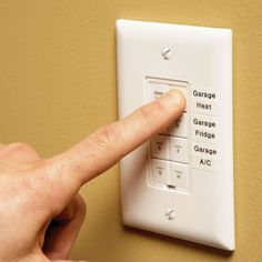 Control Garage Electrical Devices Remotely replace any switch in the house with an switch and you can remotely control electric devices in Man Cave Garage, Garage House, Garage Shop, Garage Organization, Garage Storage, Organizing, Organization Ideas, Workshop Organization, Detached Garage