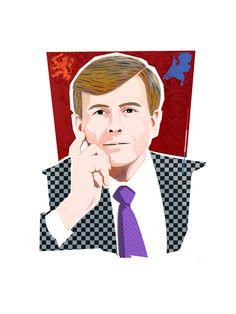Koning Willem Alexander portret